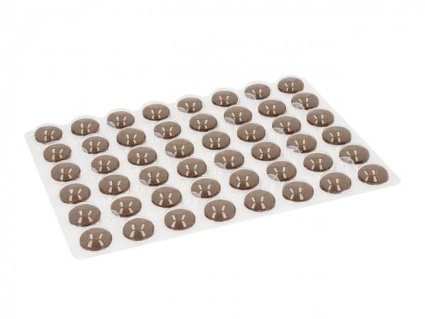 Macaron-Halbschalen 48 Stück braun