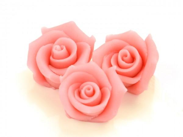 Marzipan-Rosen mittel rosa 4 Stk