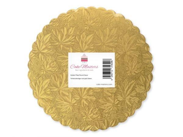 Cake Card 10 cm Gold 10 Stück