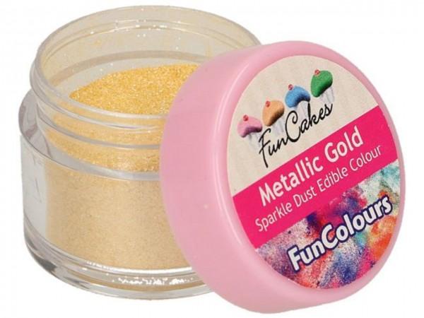 Edible FunColours Sparkle Dust - Metallic Gold - FunCakes