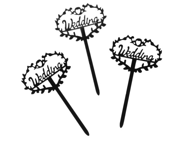 Wedding Cupcake Topper 8 Stck