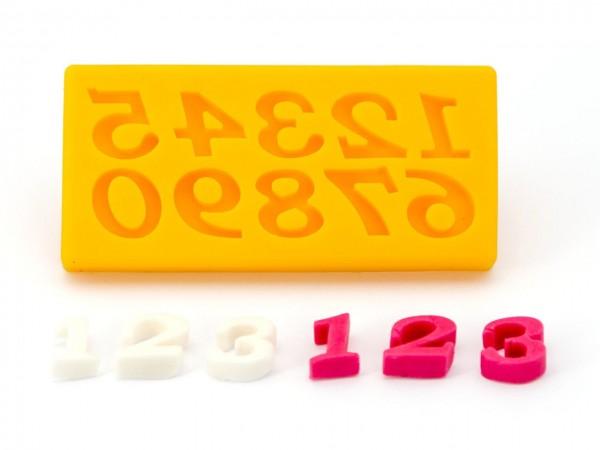 Zahlen 0-9 Silikonform
