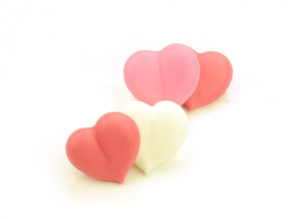 Zuckerdekor Herz mit Gesicht 10 Stk