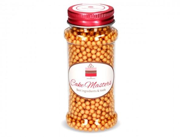 Perlmutt-Perlen goldgelb 100g