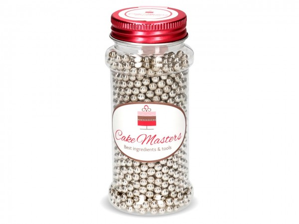 Silberperlen, klein Zucker 100g