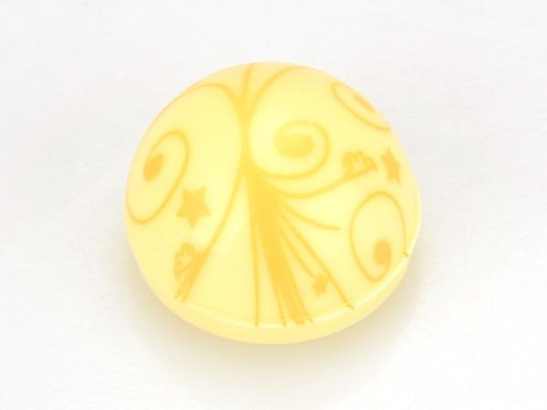 Halbkugeln mit Ornamenten Weiß - Folie je 54 Stück