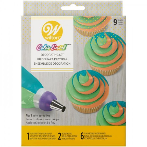 ColorSwirl Tri-Color Decorating Set 9tlg