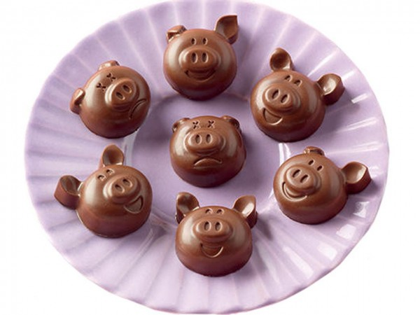 Schokoladenform Choco Pigs Silikonform