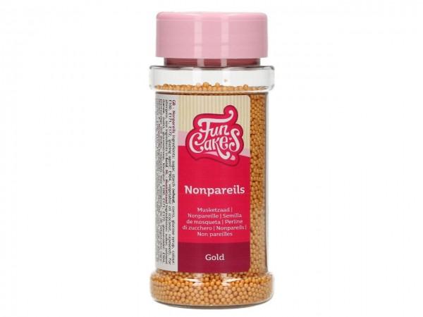 Zuckerperlen Nonpareils Gold 80g