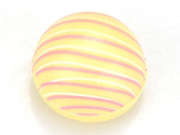 Halbkugeln mit Linien Weiß - Folie je 54 Stück