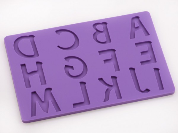 Buchstaben groß A-M Silikonform