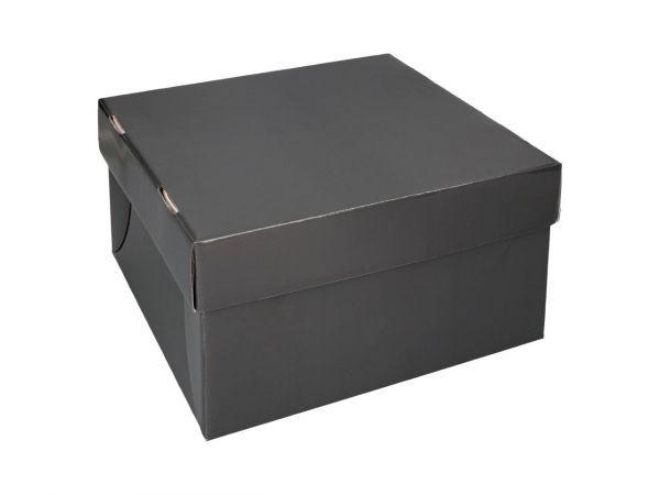 Tortenbox 36 x 36 x 15cm - Graphit - 3er Set