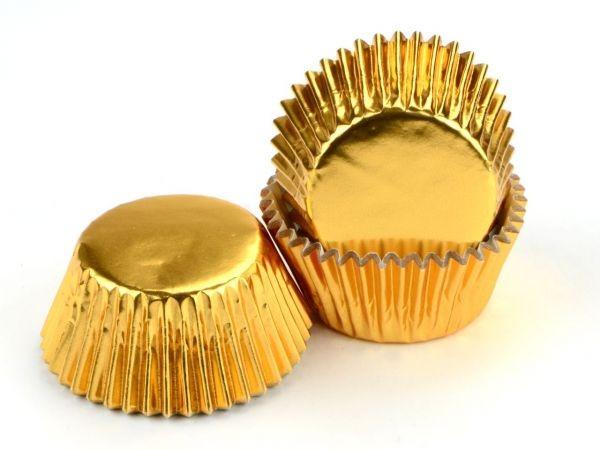 Muffinförmchen Alu gold 60 Stk