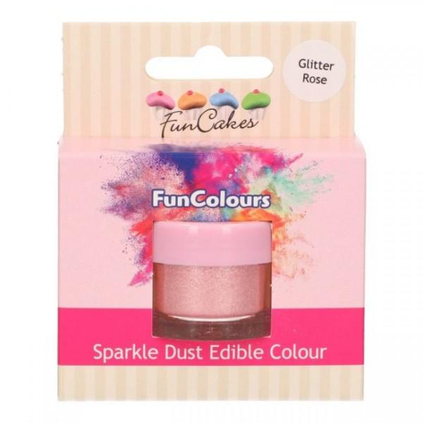 FunCakes Edible FunColours Sparkle Dust - Glitter Rose
