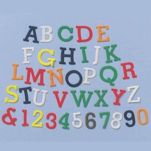 Buchstaben und Zahlen Ausstecher - Groß Normal