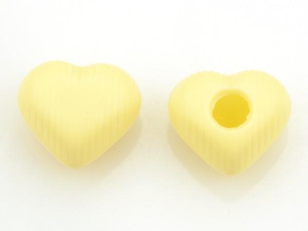 Medium Herz Hohlkörper Weiß - Folie je 54 Stück
