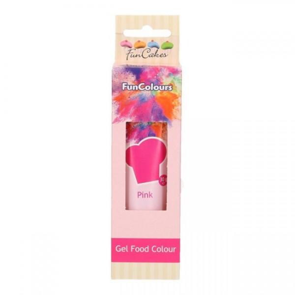 FunCakes Edible FunColours Gel - Pink 30g_1