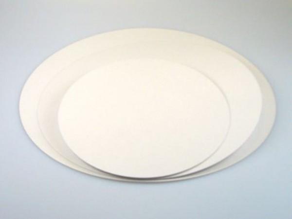 Cake Card beschichtet weiß Rund 28cm 5er Set