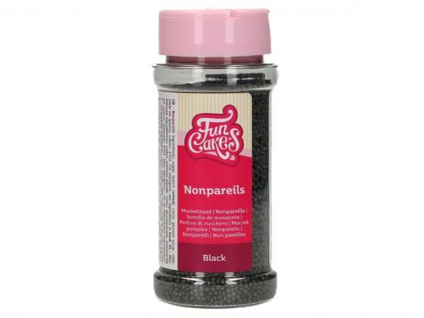 Zuckerperlen Nonpareils - Black 80g