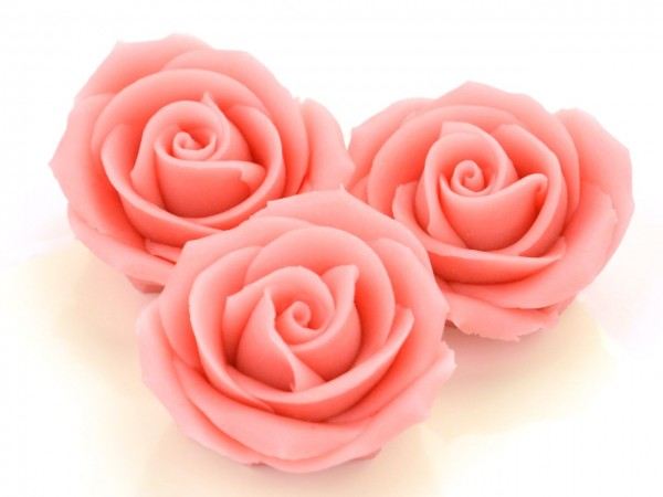Marzipan-Rosen groß rosa 2 Stk