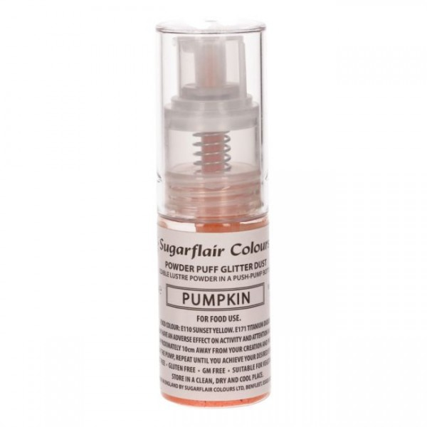 Sugarflair Pump Spray Glitter Dust - Pumpkin