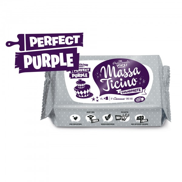 Perfect Purple Fondant Massa Ticino Tropic - 250g