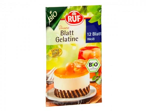 Bio Blatt Gelatine weiß 20gr