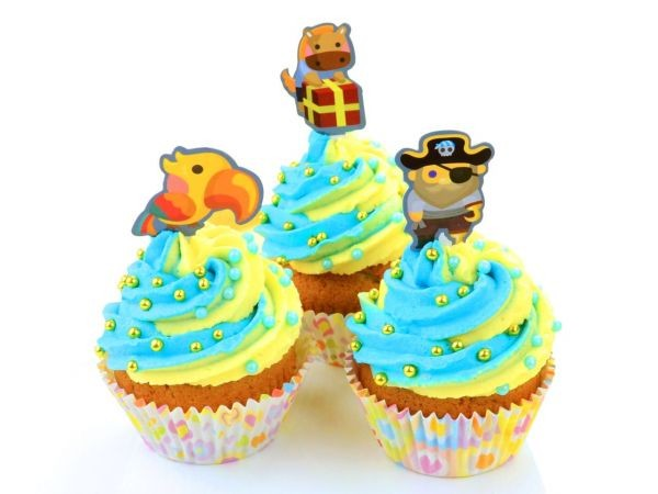 Cupcake Dekor-Set Piraten