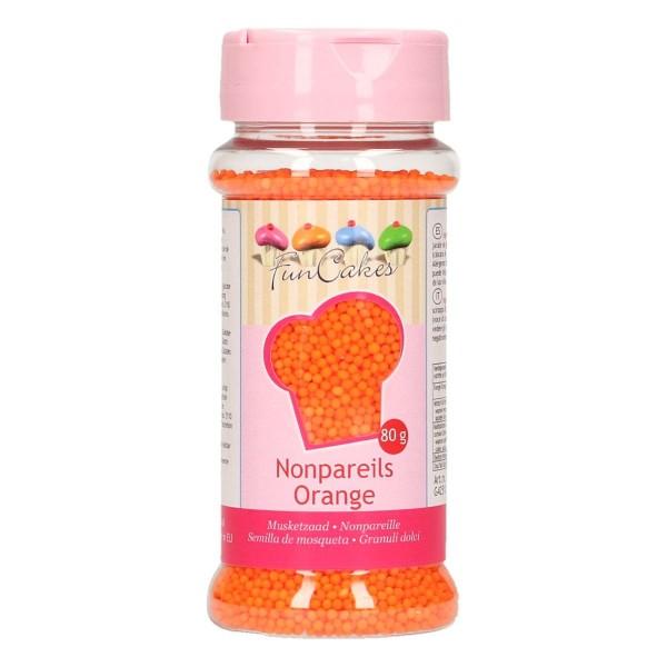 FunCakes Zuckerperlen Nonpareils - Orange