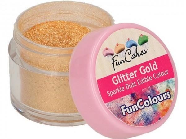 Edible FunColours Sparkle Dust - Glitter Gold - FunCakes
