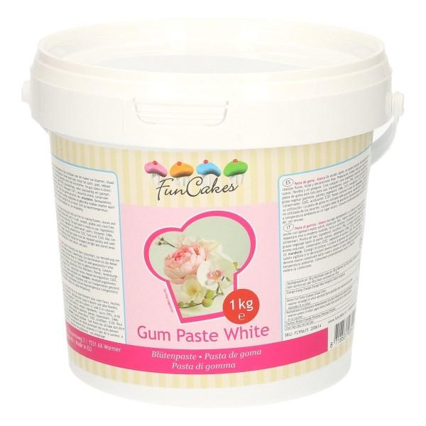 FunCakes Blütenpaste (GumPaste) weiss 1kg