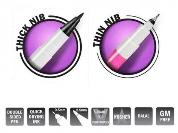 Farbstift doppelseitig Tiefschwarz Rainbow Dust