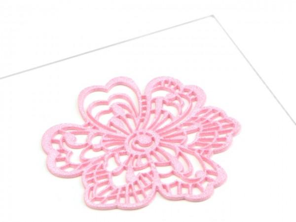 Spitzendekor Flower rosa