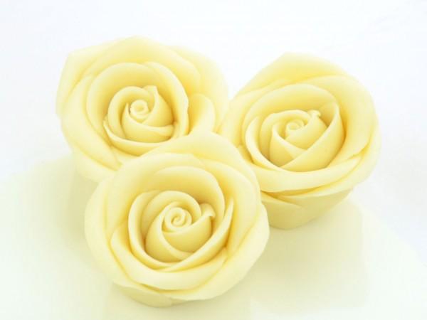 Marzipan-Rosen groß weiß 2 Stk