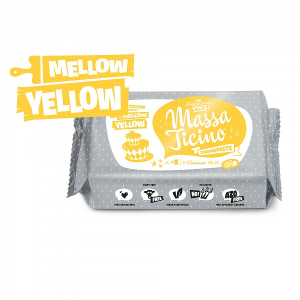 Mellow Yellow Fondant Massa Ticino Tropic - 250g