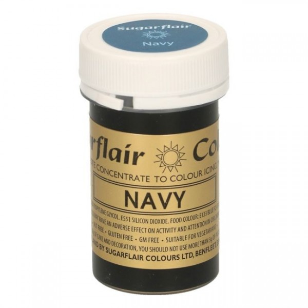 Sugarflair - Pastenfarbe - Navy 25g