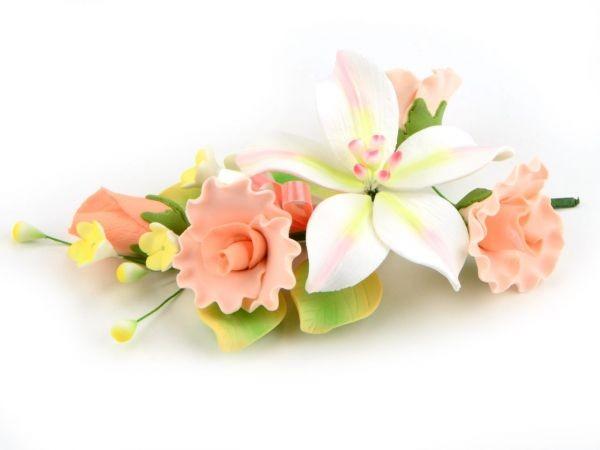 Zuckerblüte Blumenbouquet Freesie rosa