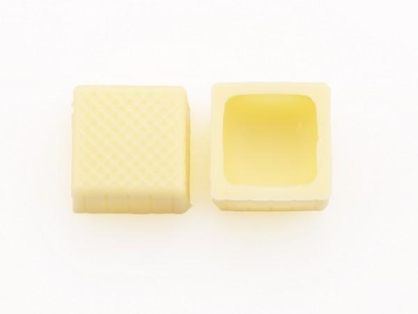 Karree-Schalen Hohlkörper Weiß - Folie je 63 Stück