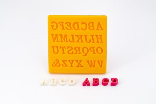 dekofee Silikonform große Buchstaben