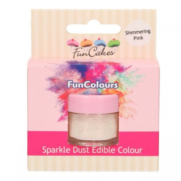 FunCakes Edible FunColours Sparkle Dust - Shimmering Pink