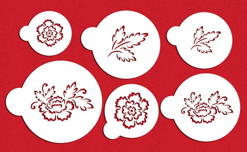 Desinger Stencils - Brush Emroidery Flower Set