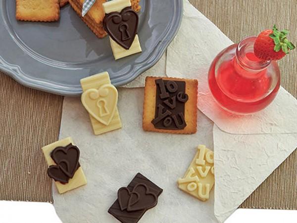 Schokoladenform Aufleger in Love Silikonform