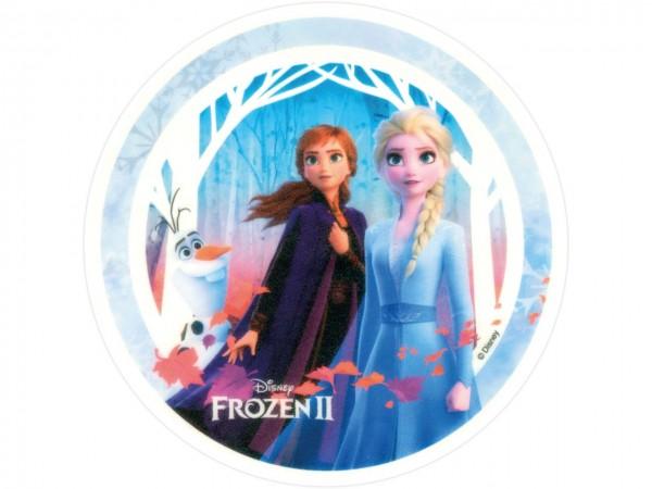 Tortenaufleger Frozen II Anna, Elsa und Olaf rund 20cm