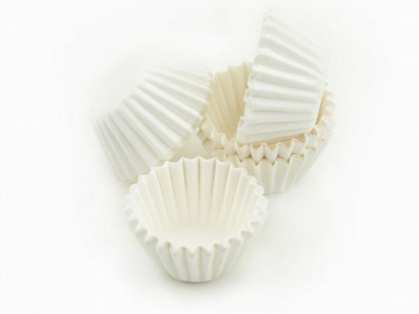 Pralinenförmchen 25mm weiß 100 Stück