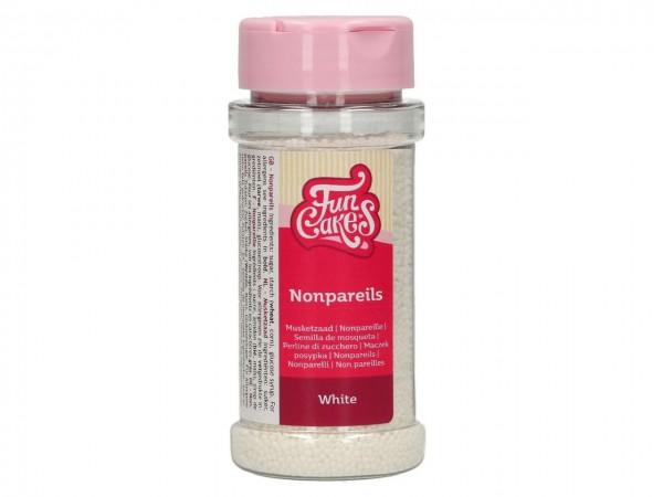 Zuckerperlen Nonpareils - White 80g
