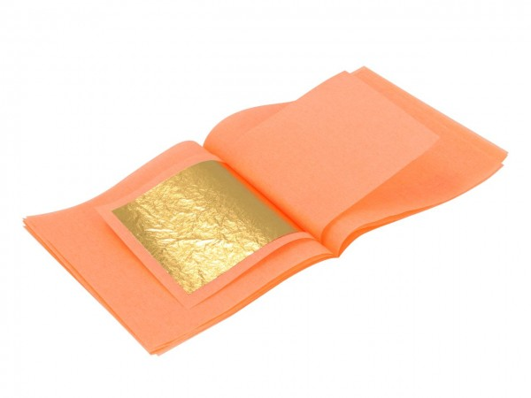 Blattgold 5x5cm 12 Blatt