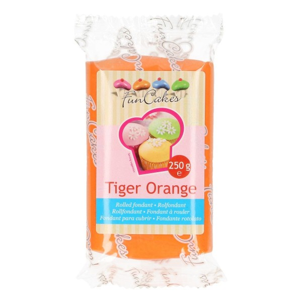 FunCakes Rollfondant Tiger Orange 250gr