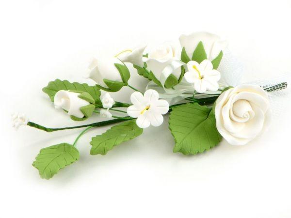 Zuckerblüte Blumenbouquet Rose weiß