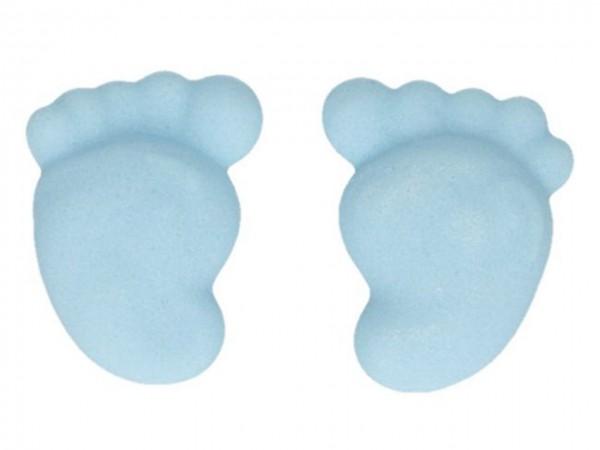 Zuckerdeko Baby Füße blau 16 Stk
