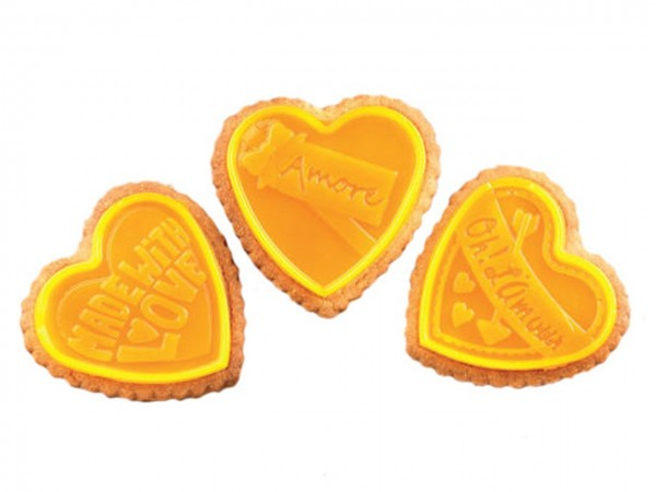 Cookie Hearts Silikonform